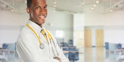 Young African Americna Doctor Smiling